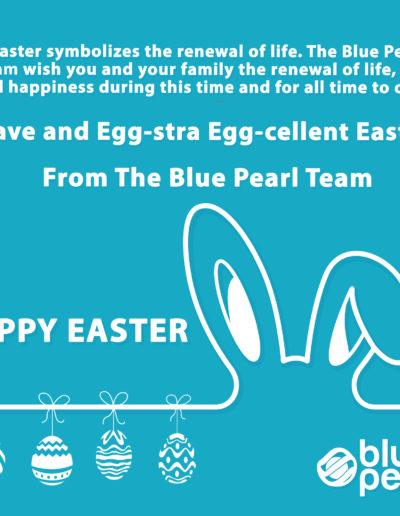 Blue Pearl Easter 2019 Flat Design